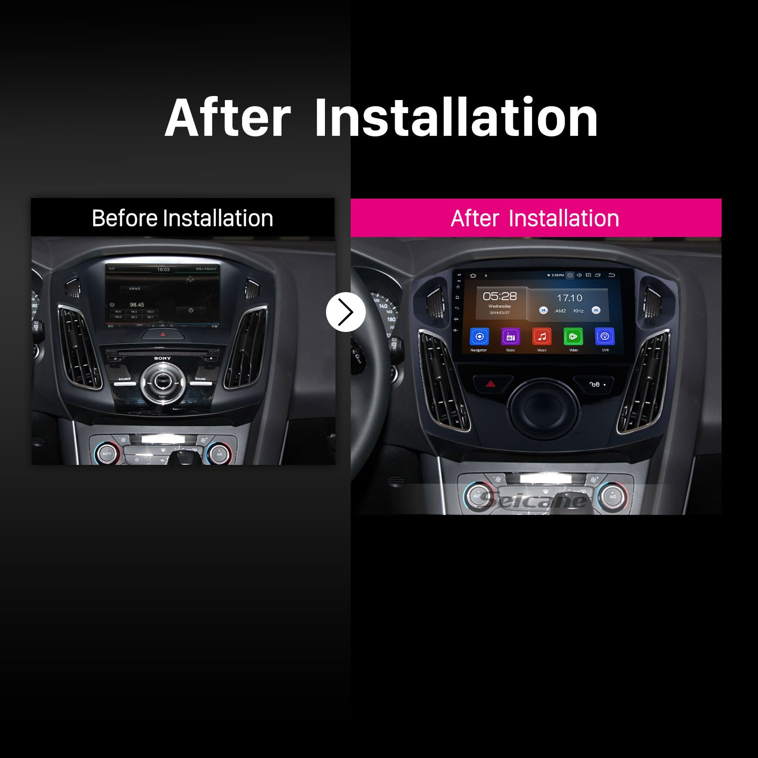 wiring android 9 0 9 inch 2012-2015 ford focus hd touchscreen gps      on ford sync