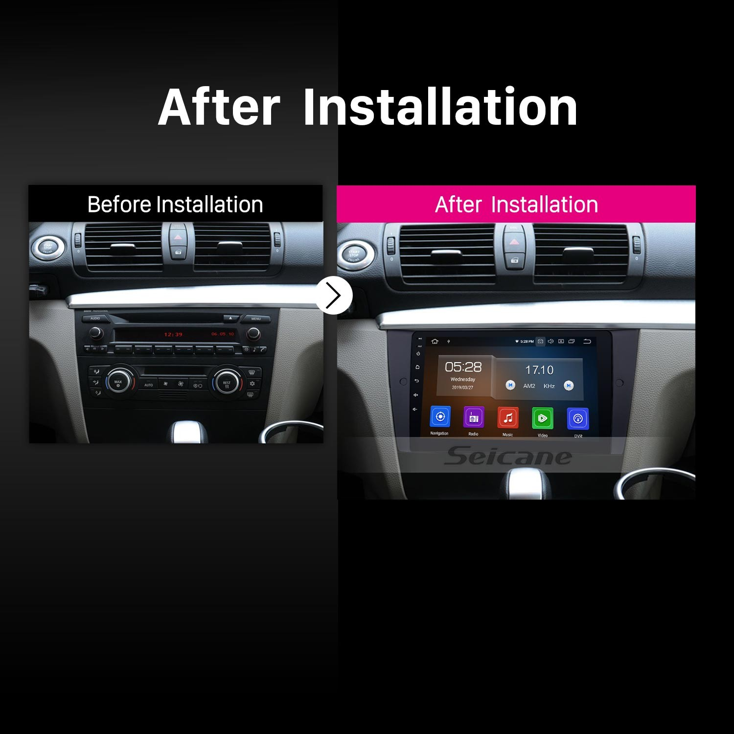 Android 9.0 Radio DVD Player Stereo For 2005-2012 BMW 3