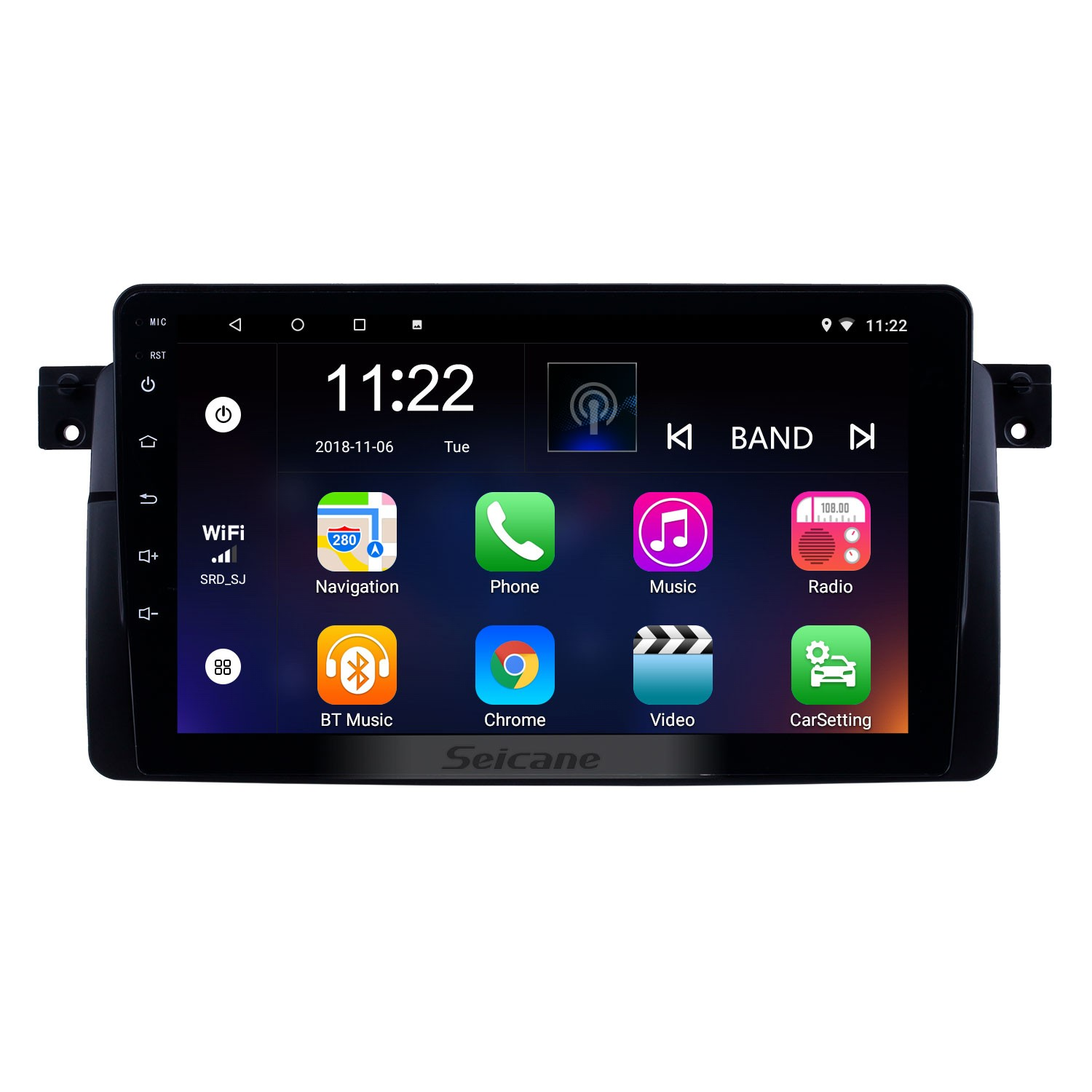 9 Inch Android 8.1 GPS Navigation Radio For 1998-2006 BMW
