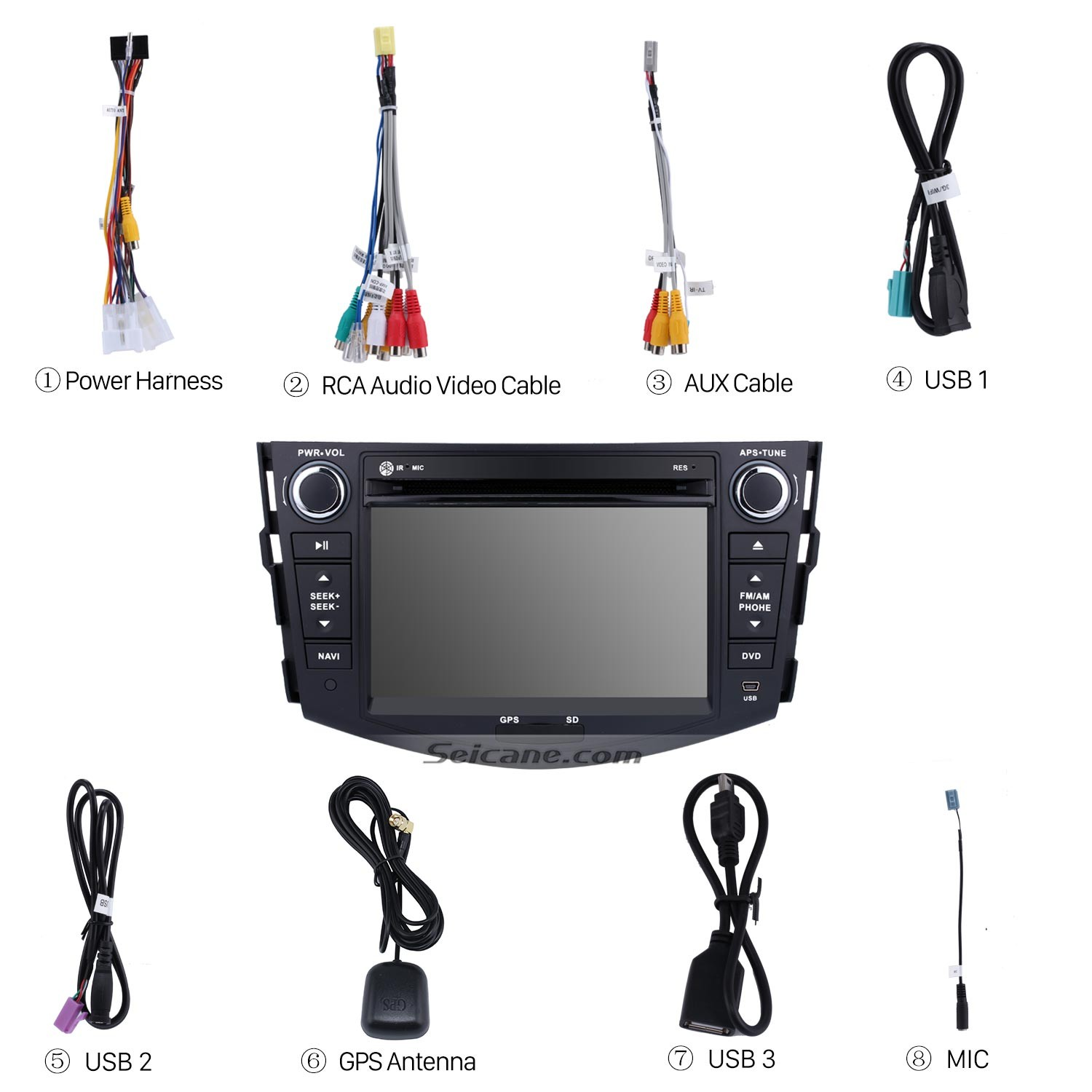 Android 9 0 GPS Navigation System Bluetooth Stereo for 2006-2012