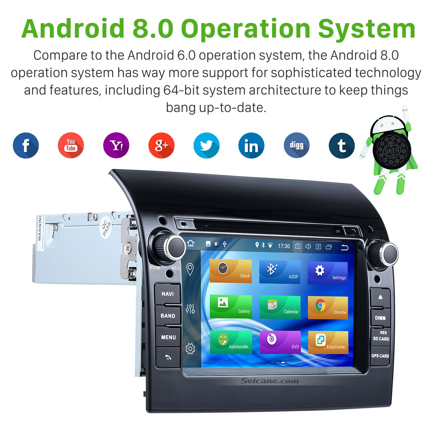 Android 8 0 Radio DVD Player GPS Navigation For 2007-2016 Fiat