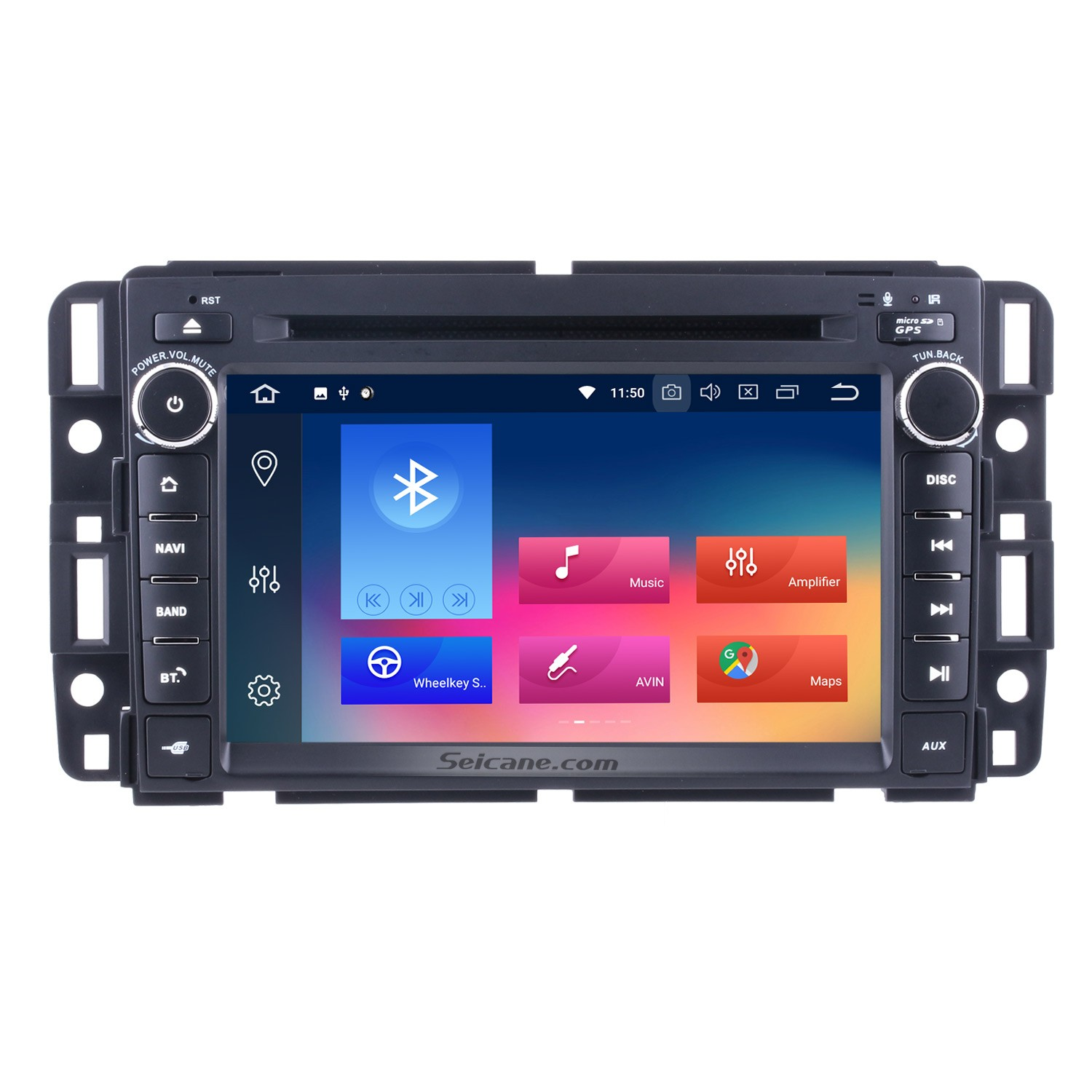 android 9 0 car stereo gps navigation bluetooth for 2007-2012 general gmc  yukon acadia with radio