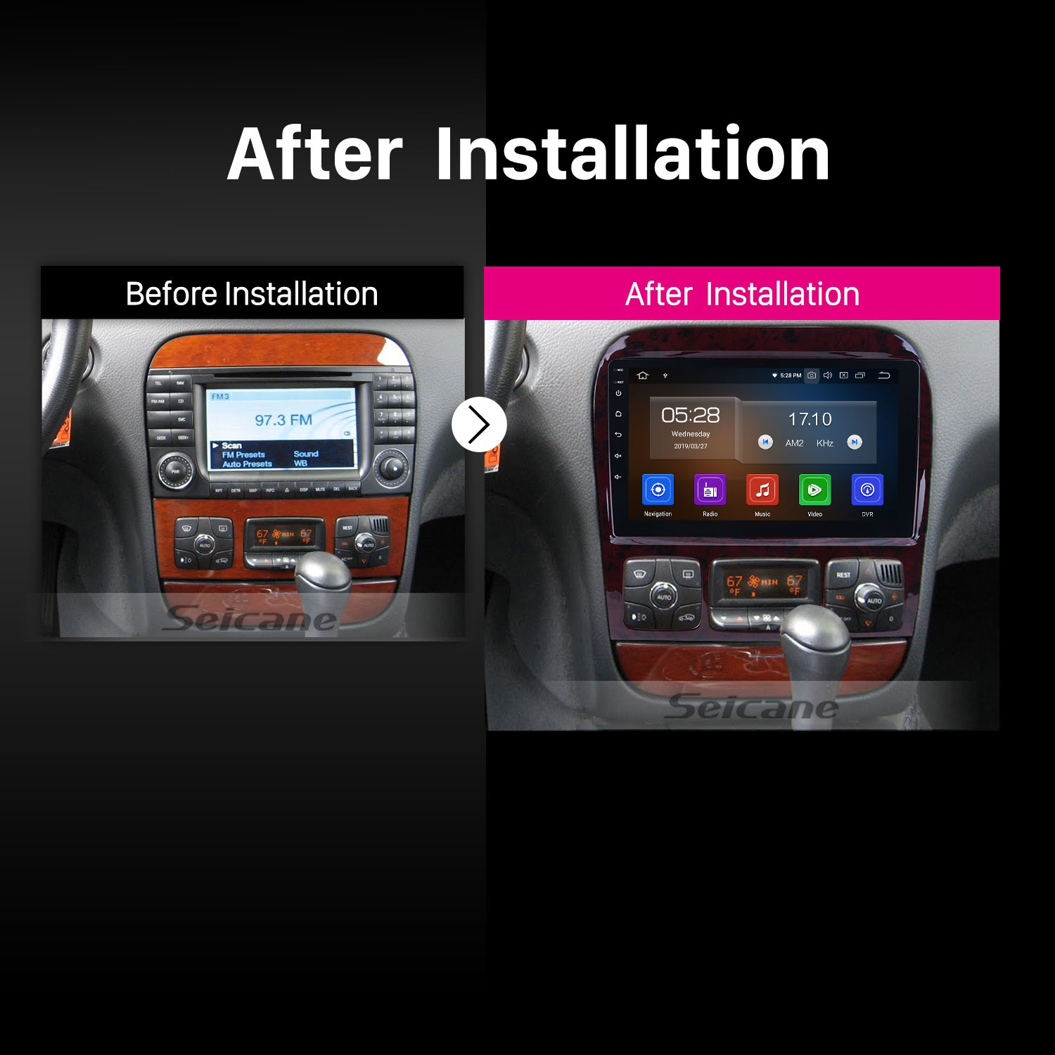 Android 9 0 Radio HD touchscreen GPS Navigation for 1998-2005