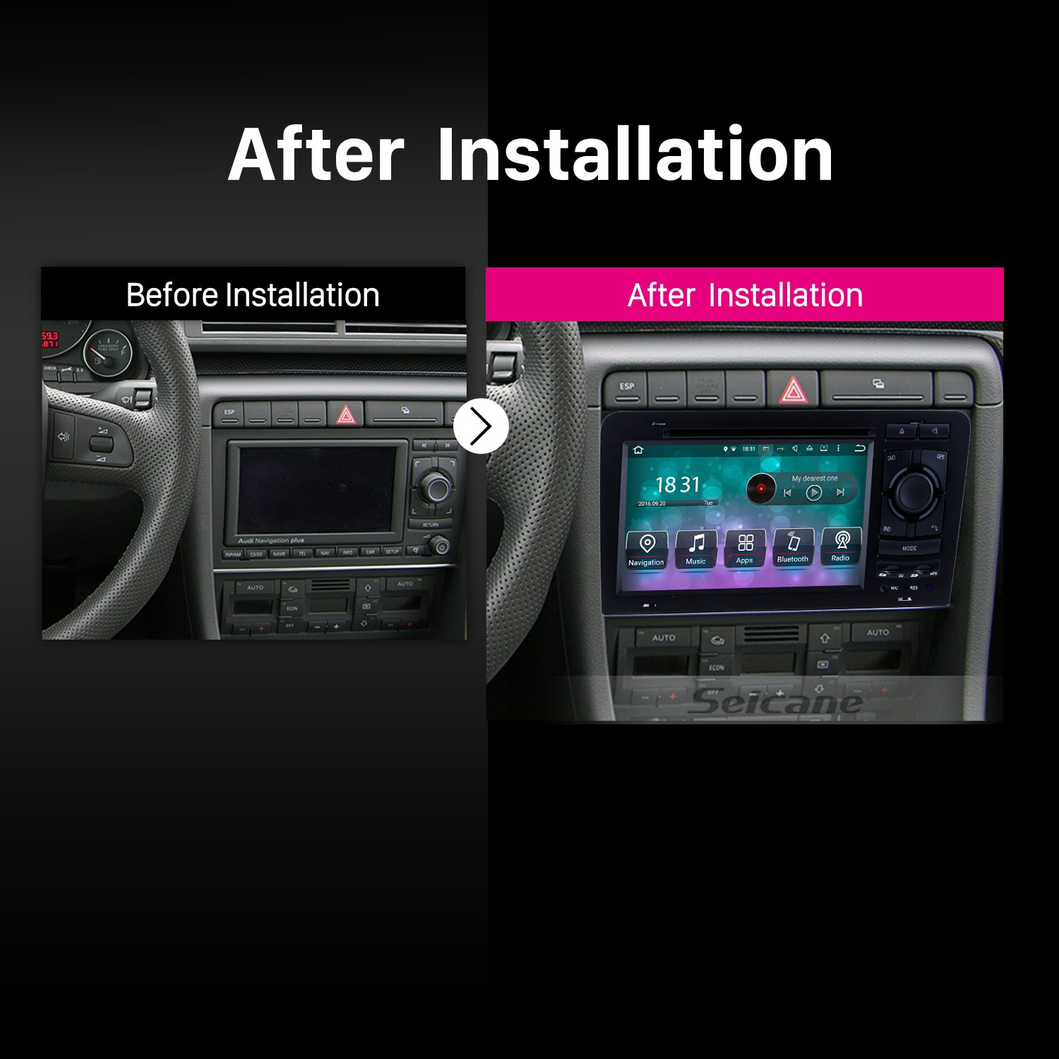 OEM Android 8 0 Car Stereo DVD Player GPS Navigation Bluetooth Radio