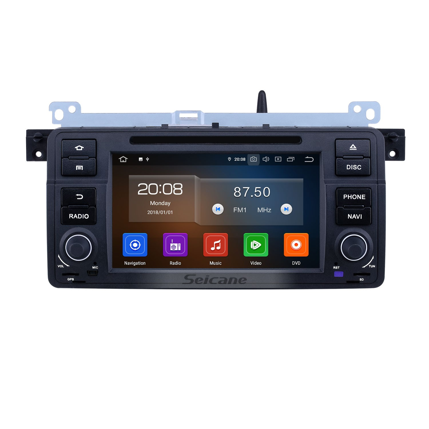7 Inch Android 10.0 GPS Navigation Radio For 1998-2006 BMW