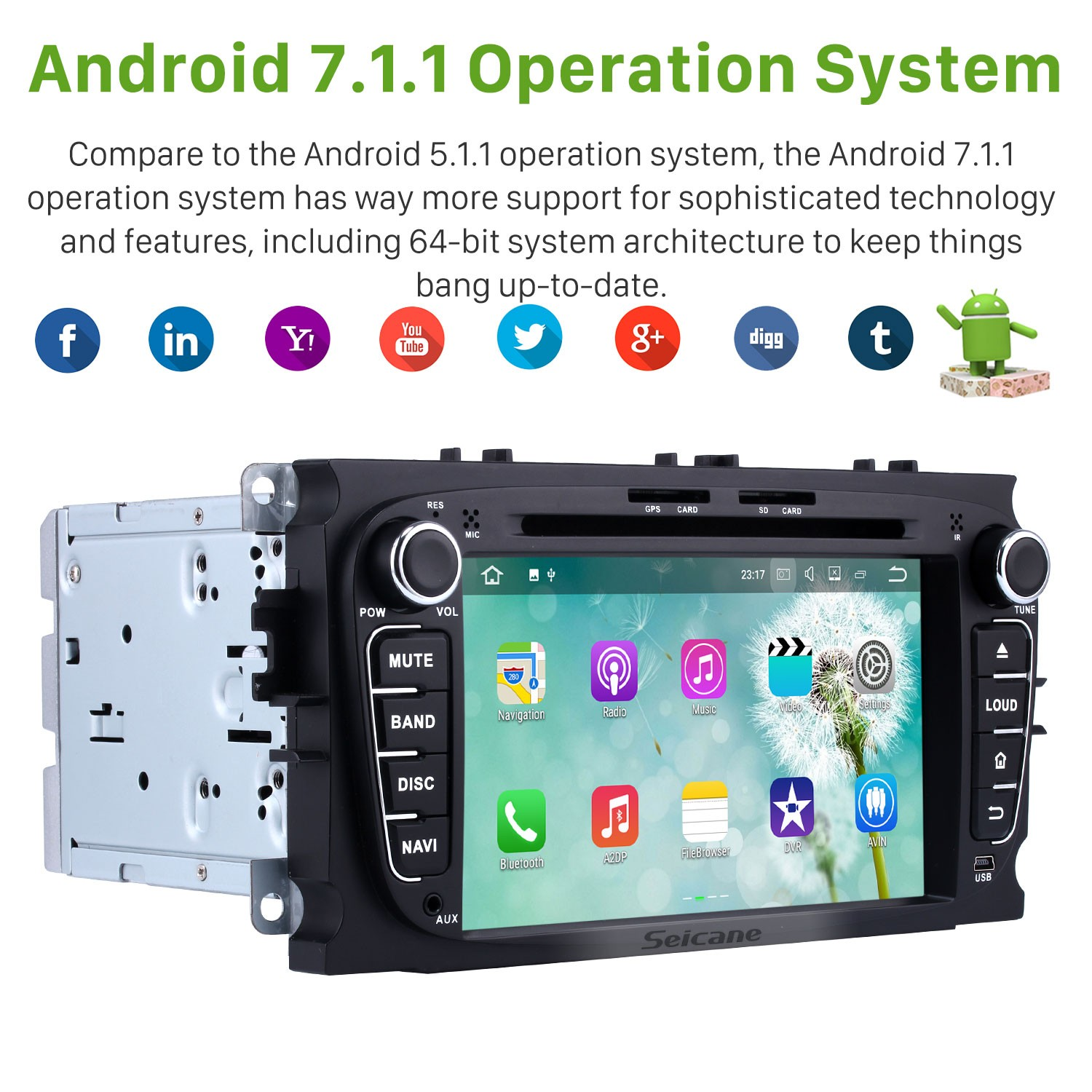 Android 7 1 Radio GPS DVD player navigation system Bluetooth Stereo