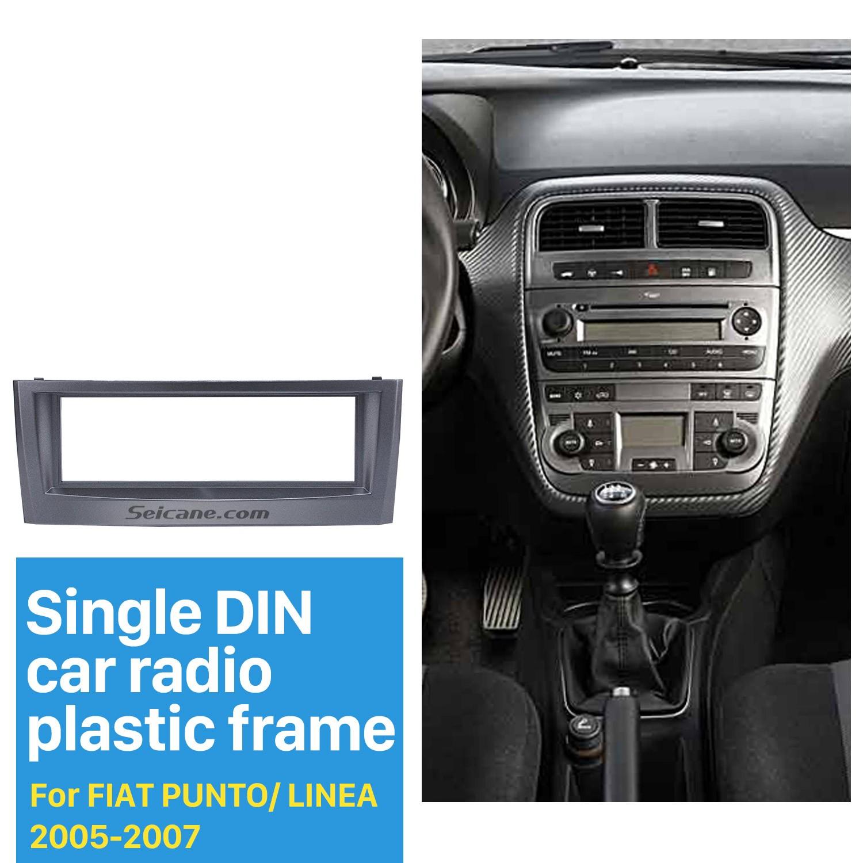 Super Grey 1Din Car Radio Fascia for 2005 2006 2007 FIAT PUNTO LINEA MP-12