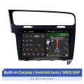 10.1 inch For 2013 2014 2015 VW Volkswagen Golf 7 LHD Android 10.0 Radio GPS Navigation Car stereo with 2.5D IPS Touchscreen Carplay OBD2 Steering Wheel Control Rearview Camera