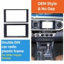 Latest Double Din 2016+ Toyota Tacoma Car Radio Fascia CD Trim Installation Frame Panel Stereo Player