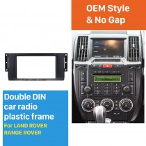 Black Double Din Car Radio Fascia for Land Rover Range Rover Auto Stereo Frame Panel DVD Player Trim Bezel