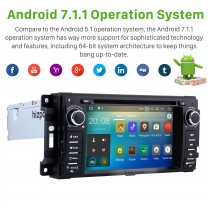 2008-2012 Jeep Grand Cherokee Radio Replacement with Android 7.1.1 DVD Player GPS Navigation System Touch Screen 3G WiFi Mirror Link OBD2 Video Steering Wheel Control USB SD Rearview Camera