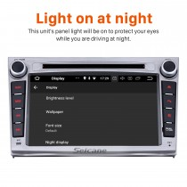 Android 8.0 Radio GPS Navigation System for 2009-2013 SUBARU Outback with WIFI OBD2 Bluetooth Mirror link HD 1024*600 Touch Screen DVR TV Video USB SD Steering Wheel control Backup Camera