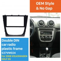 Best Double Din 2008 Volkswagen Golf G5 Car Radio Fascia GPS Decorative Frame Auto Stereo Trim Bezel