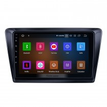 OEM Android 10.0 for 2017 Skoda Rapid Radio with Bluetooth 9 inch HD Touchscreen GPS Navigation System Carplay support DSP