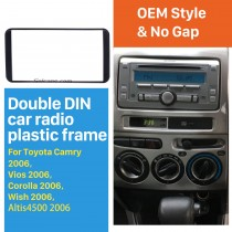 178*100mm 2 Din 2006 Toyota Camry Vios Corolla Wish Altis 4500 Car Radio Fascia Audio Player Panel Plate Stereo Install Frame