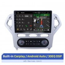 10.1 inch Android 10.0 For Ford Mondeo Auto A/C 2007-2010 Radio GPS Navigation System With HD Touchscreen Bluetooth support Carplay OBD2