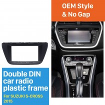 173*98mm Double Din 2015 Suzuki S-cross Car Radio Fascia Audio Player Stereo Frame Panel CD Trim