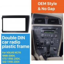2 Din Car Radio Fascia for 1998 1999 2000 2001 2002 2003 2004 Volvo XC70 V70 S60 Stereo Plate Trim Kit Frame Panel Dash CD
