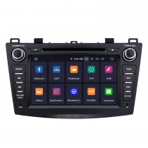 8 inch HD Touchscreen Android 9.0 for 2010 2011 2012 Mazda 3 Radio with GPS Navigation Bluetooth WIFI USB Support 1080P Video DVR OBD2 Rearview camera