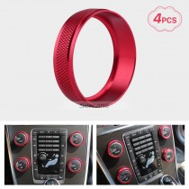 Colorful Air Conditioning Knobs Decoration Kit for 2011-2014 Volvo XC60 S60 V40 S80L Car Interior Stereo Audio Ring Cover kit