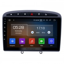9 inch Android 9.0 HD Touchscreen Radio for 2010 2011 Peugeot 308 408 with GPS Navi USB WIFI Bluetooth music AUX support RDS DVD Player 4G TPMS OBD