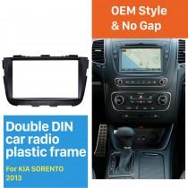 Black 2Din 2013 KIA SORENTO Car Radio Fascia DVD Player Dash Installation Kit Face Plate Panel Trim Bezel Frame