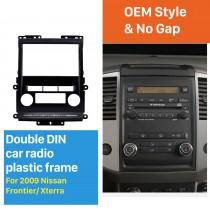 Black 2Din 2009 Nissan Frontier Xterra Car Radio Fascia Audio Fitting Adaptor Frame Panel Installation