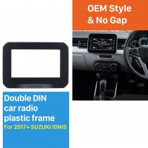 2 Double Din Car Stereo Radio Fascia Panel Dash Bezel Kit Install Frame For 2017+ SUZUKI IGNIS No Gap OEM Style