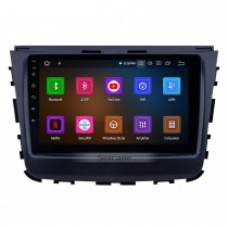 HD Touchscreen 2018 Ssang Yong Rexton Android 11.0 9 inch GPS Navigation Radio Bluetooth USB Carplay WIFI AUX support Steering Wheel Control