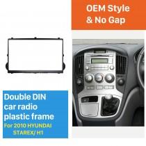 Black Double Din 2010 HYUNDAI STAREX H1 Car Radio Fascia Dash Kit Panel Plate Auto Stereo CD Frame