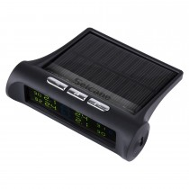 New TPMS Solar Power Car Wireless External Tire Pressure Monitoring System LCD Display with 4 External Sensors