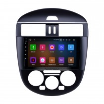 OEM 9 inch Android 9.0 Radio for 2011-2014 Nissan Tiida Manual A/C Low Version Bluetooth HD Touchscreen GPS Navigation Carplay support Rearview camera