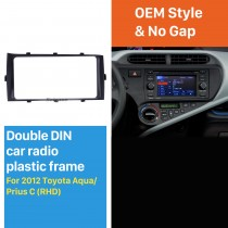 Best Double 2Din 2012 Toyota Aqua Prius C RHD Car Radio Fascia Audio Player Dash Kit Trim Install Frame