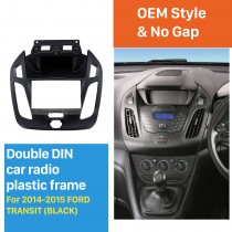Best Double Din Car Radio Fascia for 2014 2015 Ford Transit Trim Panel Installation Kit Audio Frame Cover Dash Mount