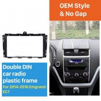 Black Double Din 2014 2015 2016 EMGRAND EC7 Car Radio Fascia In Dash Mount Kit Install Frame Audio Player