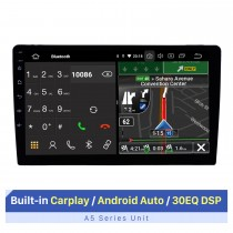 10.1 inch Android 10.0 Universal GPS Navigation Bluetooth Car Audio System Built-in Carplay Android Auto 4G WiFi Backup Camera DVR DAB+ Steering Wheel Control
