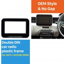 2 Double DIN In Dash Car Stereo Radio Fascia Panel Dash kit Cover Trim Frame For 2017+ SUZUKI IGNIS No Gap