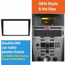 Black Double Din Car Radio Fascia for 2006+ Opel Vectra Astra Zafira Stereo Dash CD Frame Panel Audio Cover