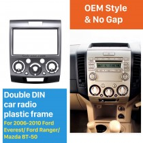 2Din(Silver)  Car Radio Fascia for 2006-2010 Ford Everest Ford Ranger Mazda BT-50 Stereo Frame Interface Car Styling Dash Kit