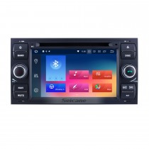 Android 9.0 GPS navigation system DVD player for 2007 2008 2009 Ford Connect with  Radio HD 1024*600 touch screen Bluetooth OBD2 DVR Rearview camera TV 1080P Video 4G WIFI Steering Wheel Control USB Mirror link