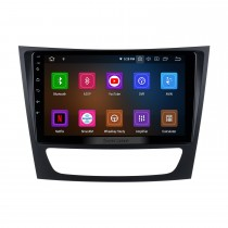 9 inch Android 10.0 Radio IPS Full Screen GPS Navigation Car Multimedia Player for 2002-2008 Mercedes Benz E W211 E200 E220 E230 E240 E270 E280 E300 E320 with RDS 3G WiFi Bluetooth Mirror Link OBD2 Steering Wheel Control