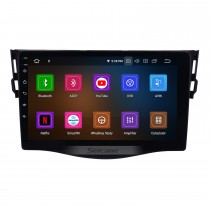 OEM GPS Navigation Stereo Android 10.0 Multimedia Player for 2007-2011 Toyota RAV4 9 inch HD Touchscreen Radio Bluetooth Phone Music USB Carplay WIFI Steering Wheel Control Rearview AUX