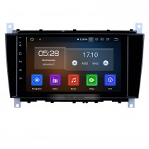 8 inch Android 9.0 GPS Navigation Radio for 2004-2011 Mercedes Benz C Class C55 / CLC Class W203 /CLK Class W209 /CLS Class W219 Bluetooth HD Touchscreen Carplay support 1080P