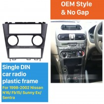 Classic 1Din 1998-2002 Nissan N16 Fb15 Sunny Ex Sentra Car Radio Fascia Autostereo Adapter Trim Bezel Frame Panel