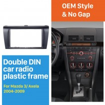 2DIN 2004-2009 Mazda 3 Axela Car Radio Fascia Dash DVD Player Auto Mounted front surround frame panel Install Bezel
