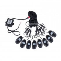 Newest 8 Pods Under Car RGB LED Rock Lights for Universal Car Chassis with Bluetooth Control Waterproof Anti-corrosion