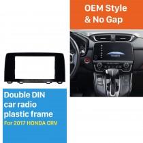 2 Double DIN In Dash Car Stereo Radio Fascia Panel Trim Kit Installation Frame For 2017 HONDA CRV UV BLACK No Gap