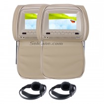 7 inch Headrest Car DVD player with FM Game(1 Pair)