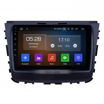 2018 Ssang Yong Rexton Android 9.0 9 inch GPS Navigation Radio Bluetooth AUX HD Touchscreen USB Carplay support TPMS DVR Digital TV Backup camera