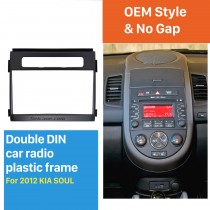 173*98mm 2Din 2012 KIA SOUL Car Radio Fascia DVD Frame Trim Installation Kit Audio Fitting Adaptor
